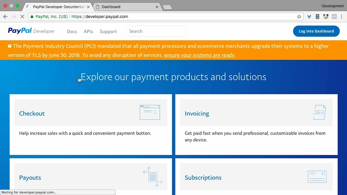 Login ke halaman Developer PayPal