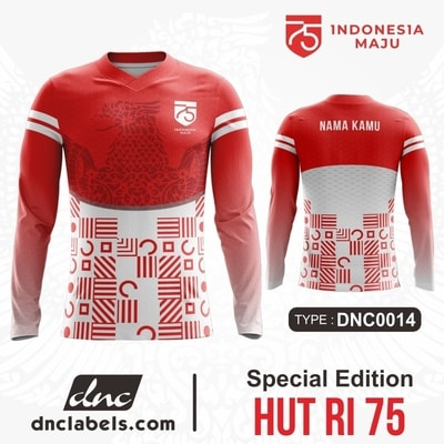 Kaos Jersey Sepeda HUT RI 75 Dirgahayu Indonesia Spesial Edition DNC Labels