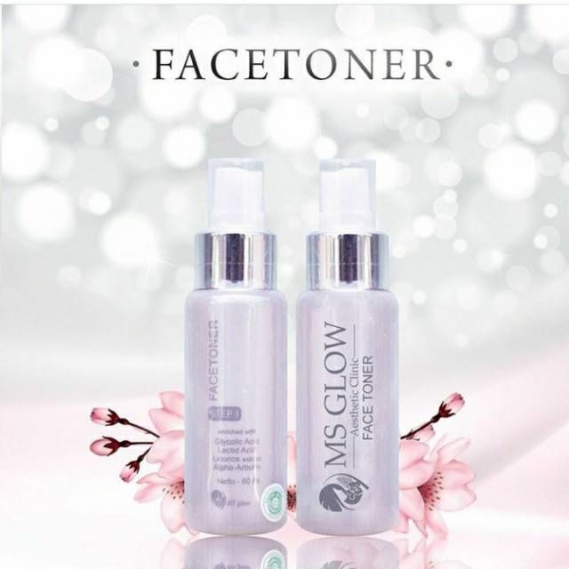 new packaging face toner ms glow